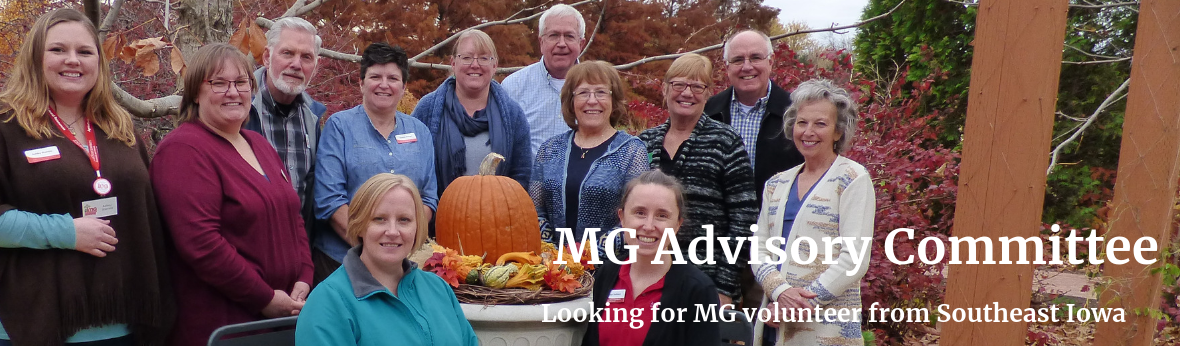 MG Advisory Committee: Looking for MG volunteer from Southeast Iowa