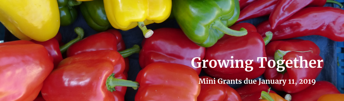 Growing Together: Mini Grants due January 11, 2019