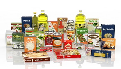 collection of packaged food on white background by viperagp/stock.adobe.com.