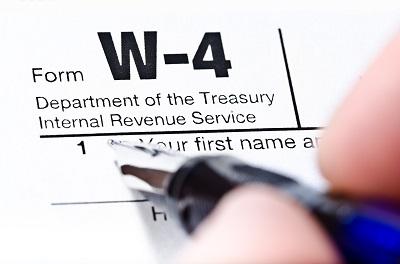W-4 tax form by Aliaksandr Dobysh/stock.adobe.com.