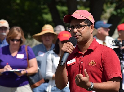 Ajay Nair at field day.