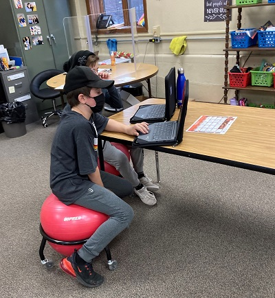 adaptive seating in classroom.