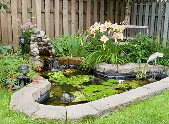 A Small Garden Pond. AMES, Iowa U2015 Water Features ...