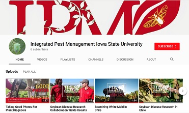 Integrated Pest Management YouTube channel screen shot.