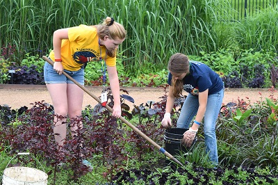 Youth participate in service-learning at 2019 Iowa 4-H Youth Conference.