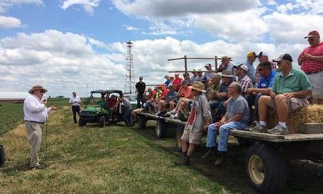 hayrack of field day participants.