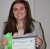 Amber Engelken 4-H dairy quiz bowl.