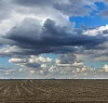 unplanted wet field with storm clouds overhead by sosiukin/stock.adobe.com.