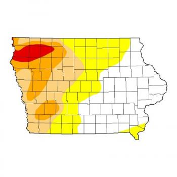 United States Drought Monitor map.