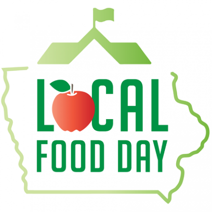 Iowa local food day logo.