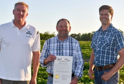 Governor's proclamation for Fruit and Vegetable Week.