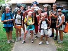 Backpacking at Iowa 4H Center