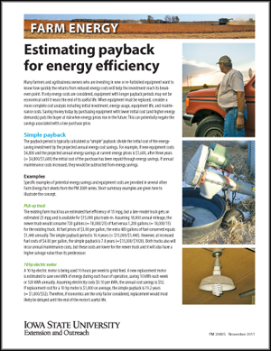 Estimating payback for energy efficiency
