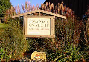 Photo of Iowa State University Extension sign
