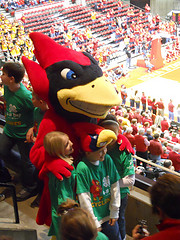 Cy and 4-H'ers at Cyclone Women's Basketball