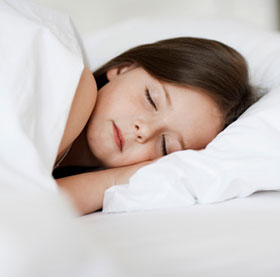 female child sleeping