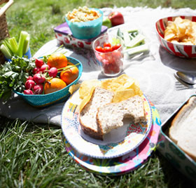 food at a picnic