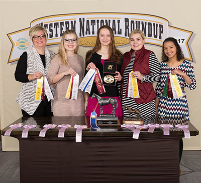 Clinton County 4-H team with awards at Western National Roundup
