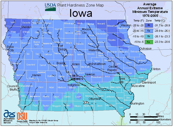 New Plant Hardiness Zone Map Has Iowa in Zone 5  Iowa State