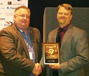 Ken Stadler receives award