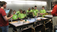 youth at robotics competition
