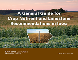 crop nutrient and limestone recommendations in Iowa