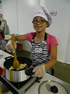 youth participating in Cook This