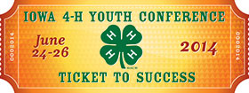 Iowa 4-H Youth Conference Ticket to Success