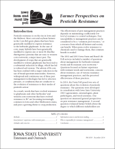 Farmer perspectives on pesticide resistance