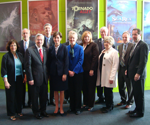 Gov. Branstad, Lt. Gov. Reynolds and STEM Hub representatives