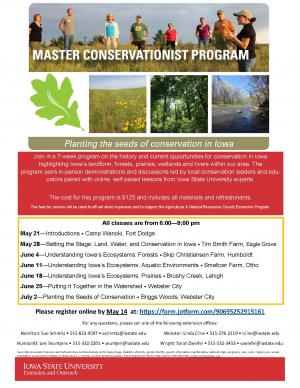 Flyer for Master Conservationist Course