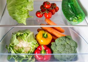 photoo of vegetables in the refrigerator
