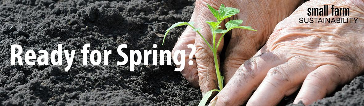 planting a garden in the spring