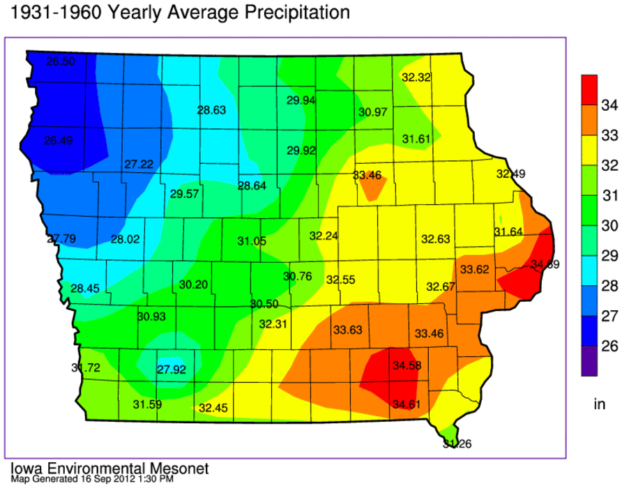 Corn Suitability Ratings Soil Interpretations Soil And Land Use - Iowa in usa map