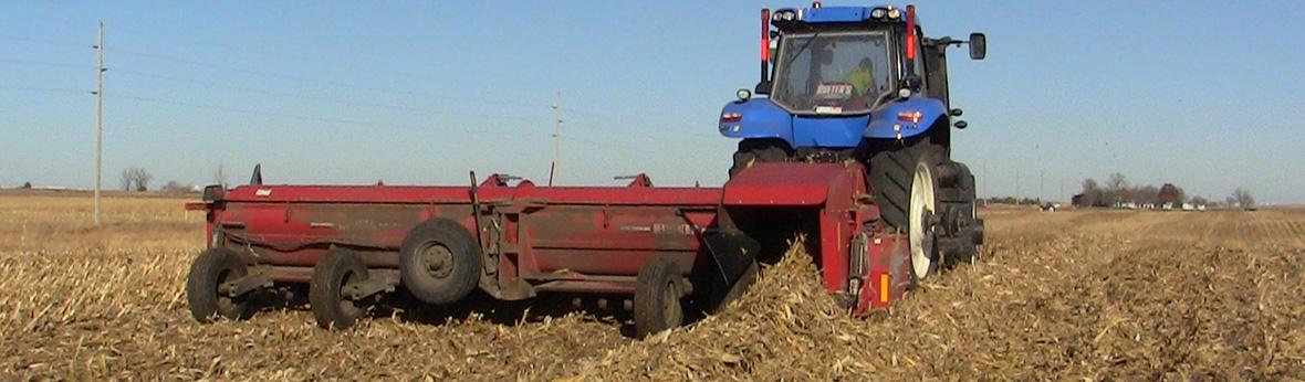 Stalk Chopping and Windrowing of Corn Stover