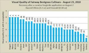Visual Quality of Fairway Bentgrass Cultivars