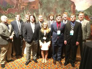 Students and advisors representing Iowa State at the Sports Turf Managers Association Meeting