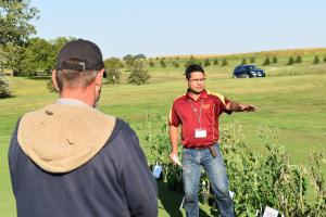 Dr. Nair discusses herbicide damage to vegetables.