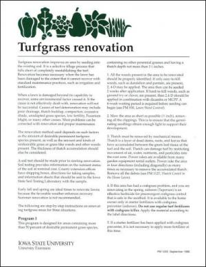 Turfgrass Renovation