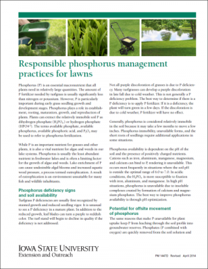Responsible Phosphorus Management Practices for Lawns