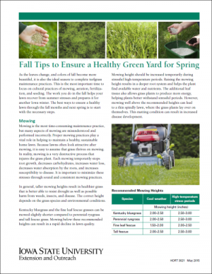 Fall Tips to Ensure a Healthy Green Yard in the Spring