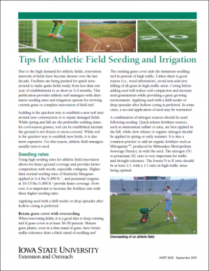 Athletic Field Seeding and Irrigation Tips