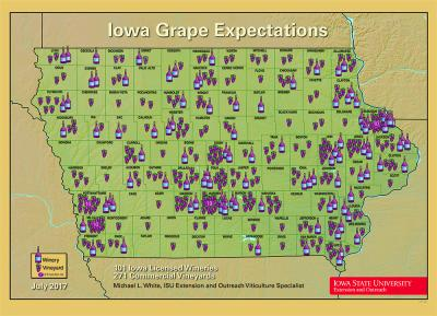 winery and vineyard map of iowa