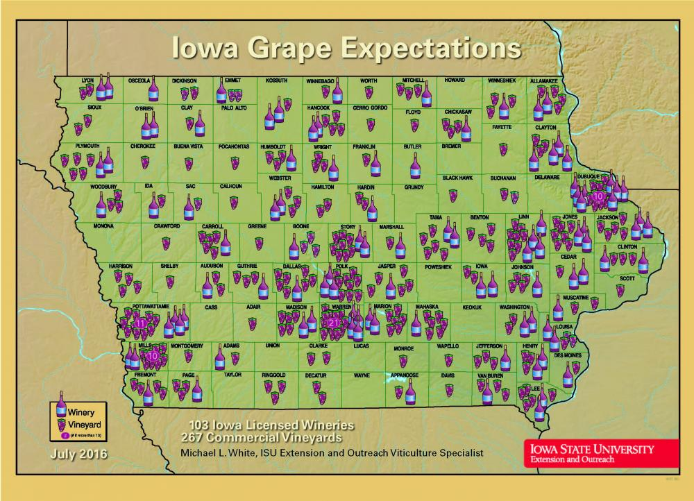Wineries and Vineyards in Iowa