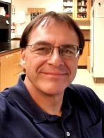 Jim Schrader in laboratory