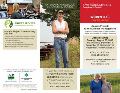 Farm Business Management | New Hampton, Iowa | Begins Tuesday, August 28, 2018