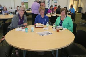 Three attendees at 2016 Iowa Women in Agriculture Conference in Ankeny, Iowa.
