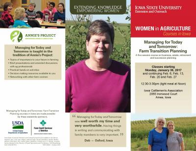 Farm Transition Planning | Ames, Iowa | Begins Monday, January 30, 2017