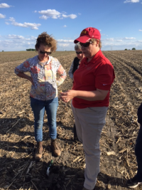 Women in Ag Agronomy in the Field outdoor classroom with Angie Rieck-Hinz