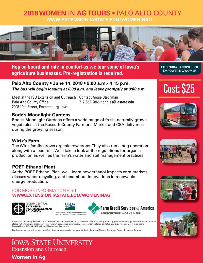 2018 Women in Ag Tours • Palo Alto County • June 14, 2018